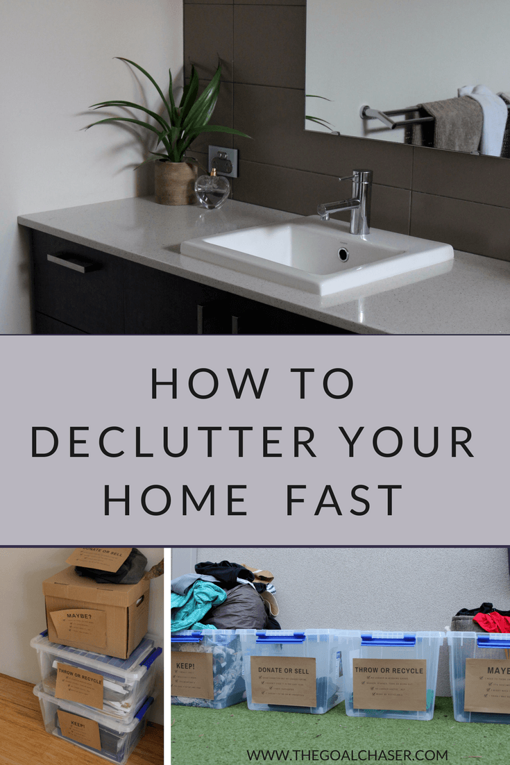 how to declutter your home fast the goal chaser blog pinterest
