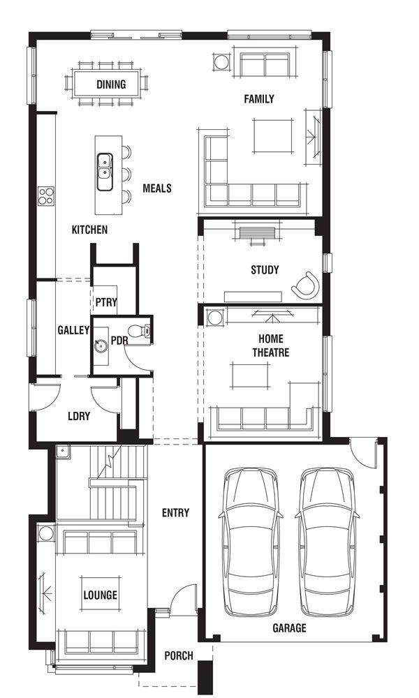 Bristol House Design - 4 Bedroom Floor Plan | Porter Davis ...