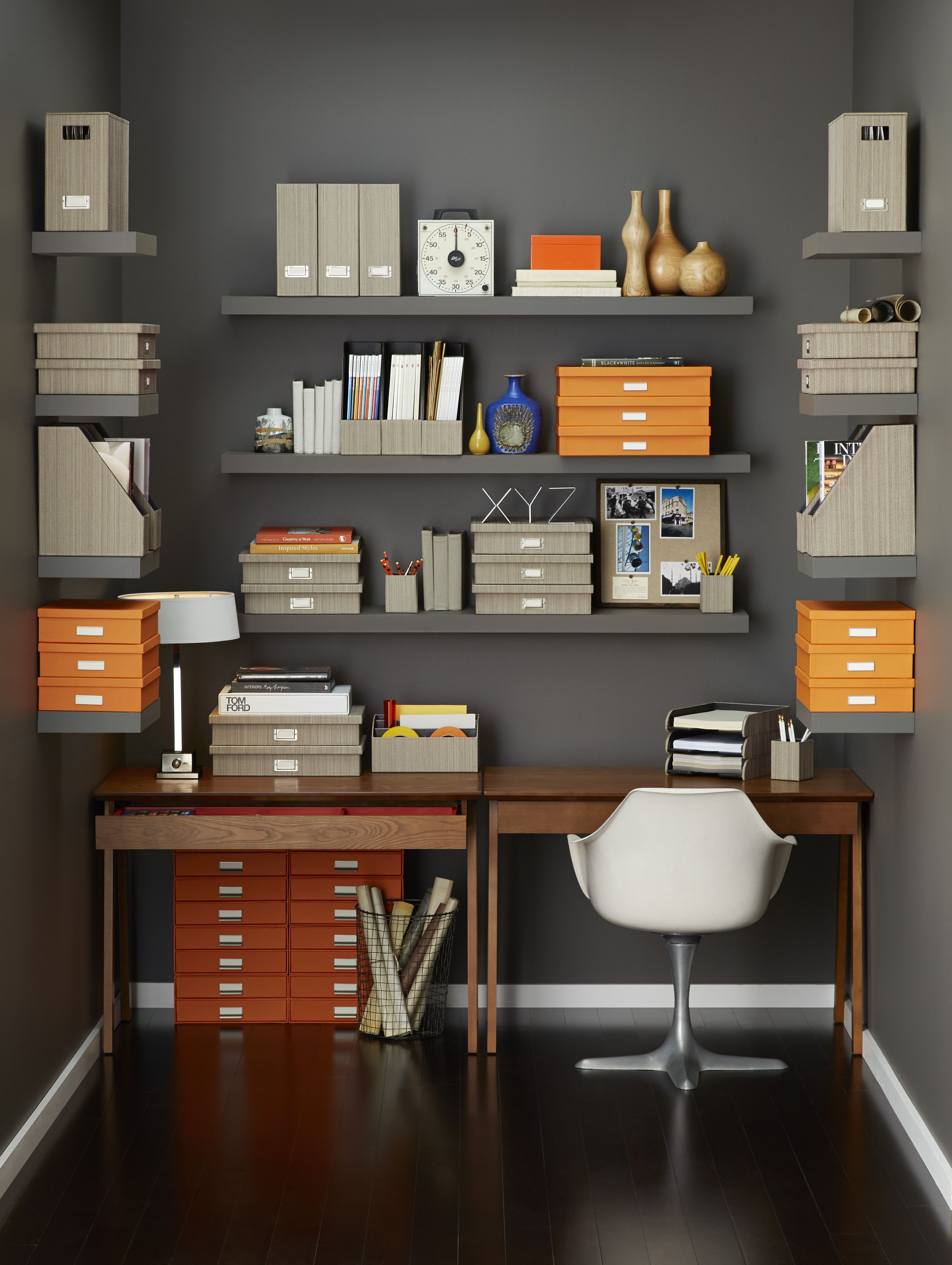 Maintain your home office organized! Paperwork, bills as