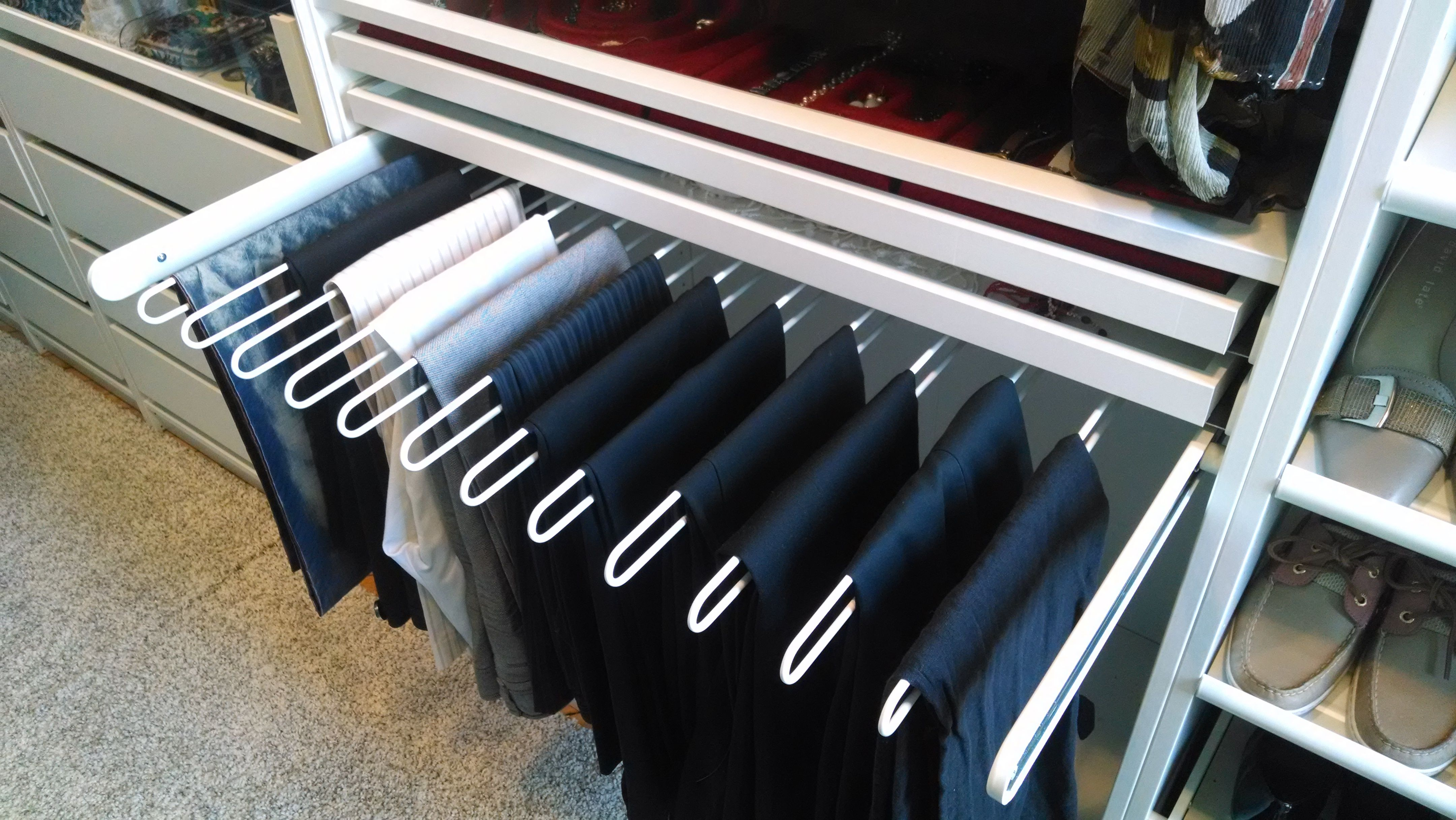 komplement pull out pants hanger white drawers true