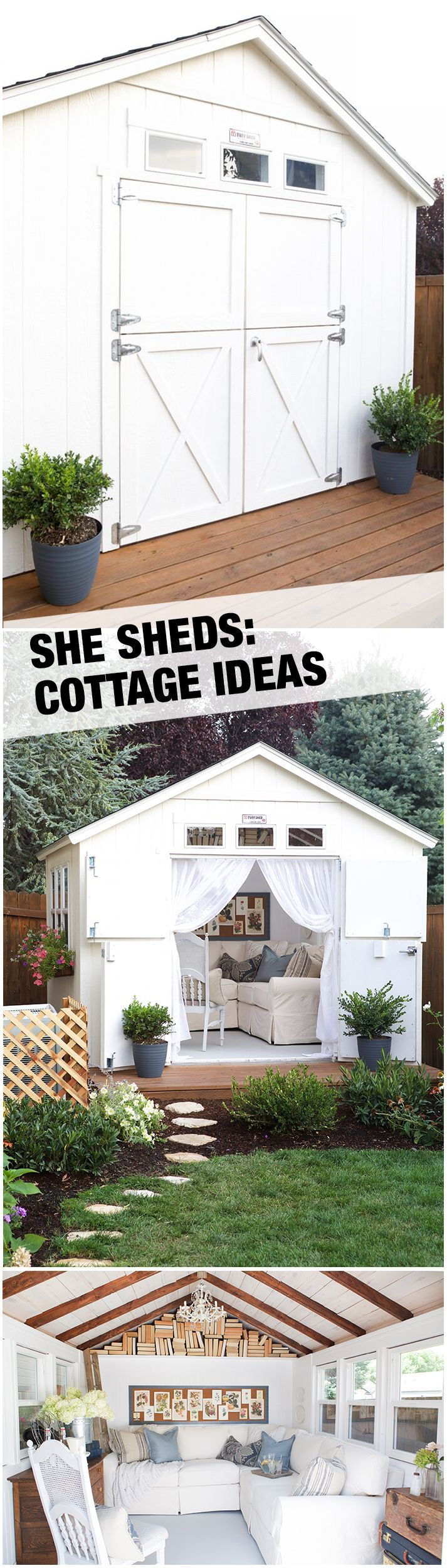 a cozy cottage she shed backyard retreat dutch doors and dutch