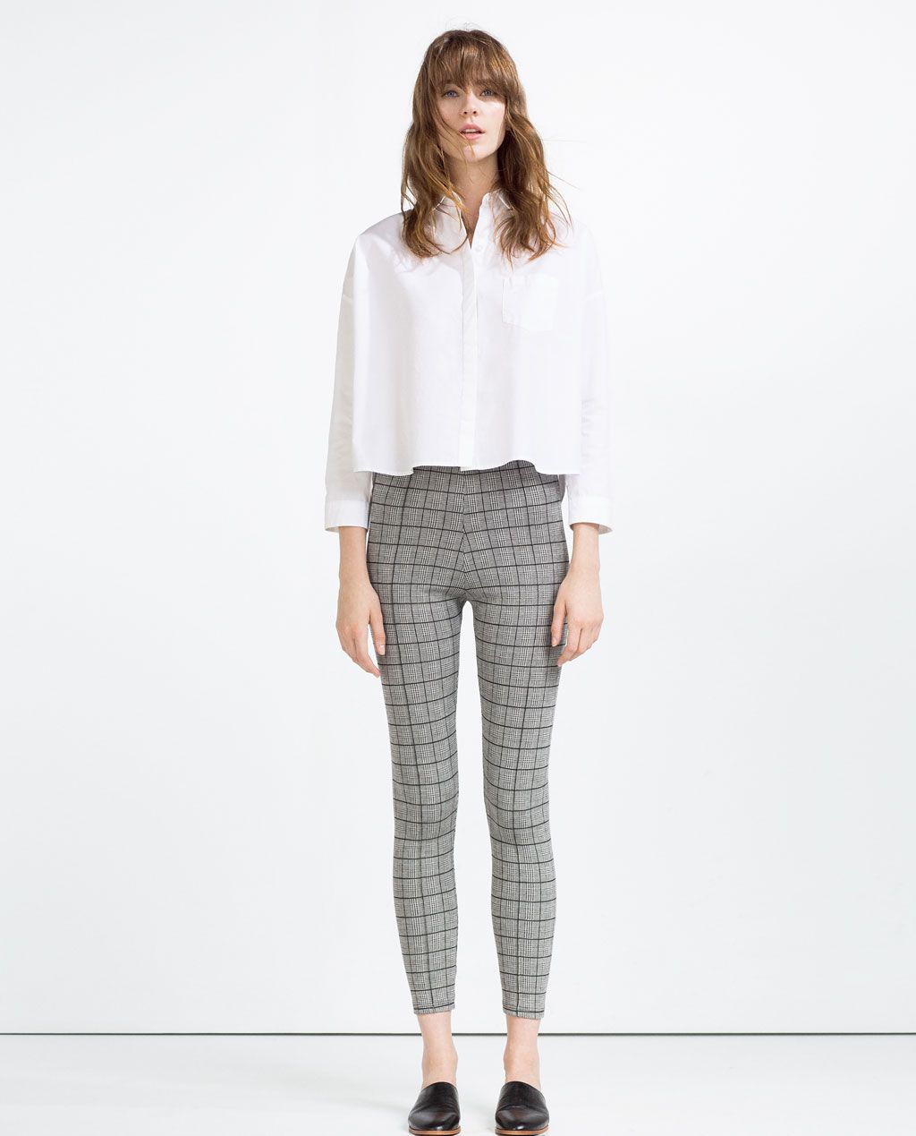 CHECKED JACQUARD LEGGINGS-View All-TROUSERS-WOMAN  0b90263f52cb