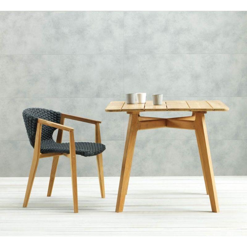 Ethimo Knit Esstisch aus Teakholz 90 × 90 cm Esstisch