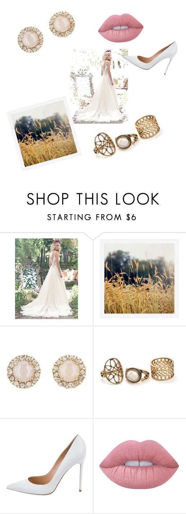 """""""Noiva"""" by jadyeleng on Polyvore featuring Pottery Barn, Kate Spade, Gianvito Rossi and Lime Crime"""