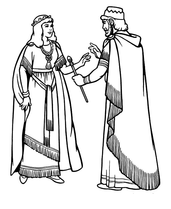 Esther Become King Ahasuerus Beloved Wife Coloring Pages Download Print Online Coloring Pages For Free Coloring Pages Online Coloring Pages Queen Esther