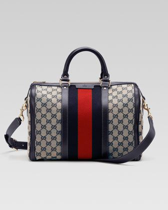 217e7e0b9606 Vintage Web Original GG Canvas Boston Bag by Gucci at Bergdorf Goodman.
