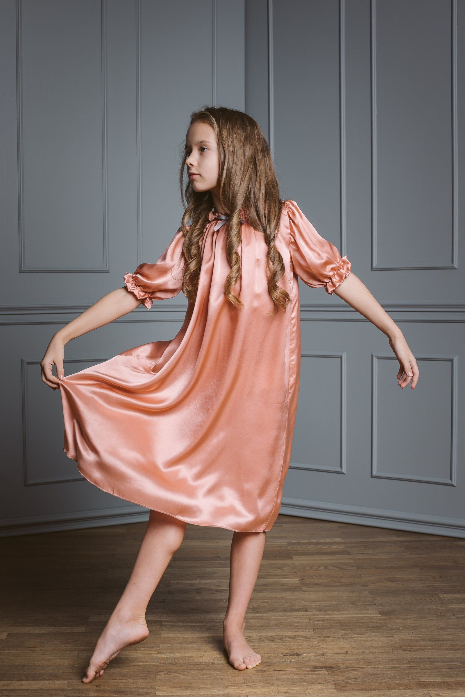 8e07f97d916b Antonia girls  silk nightdress in 2019