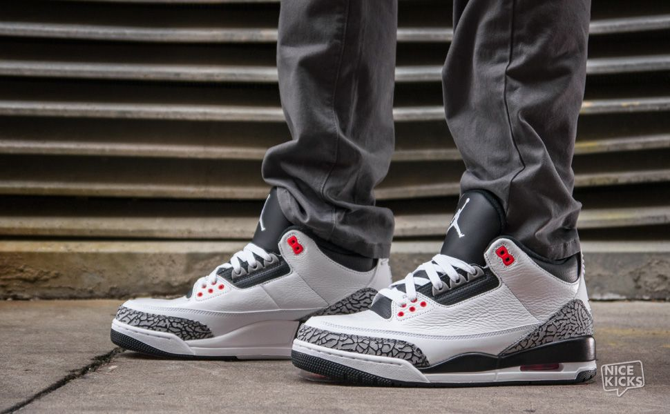 "size 40 073ca bfe82 On-Foot Look  Air Jordan 3 ""Infrared 23″ with Chino Pants,cheap air jordan 3,  discount mens jordans on sale."