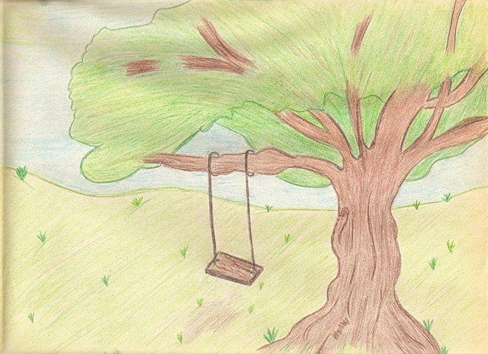 Tree Swing Drawing As I Like To Draw Trees.