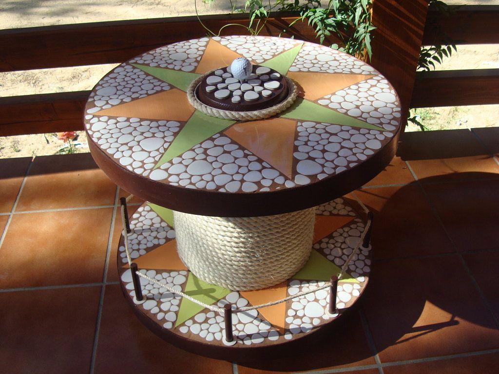 De modesta bobina a coqueta mesita bar hacer bricolaje for Como hacer una terraza rustica