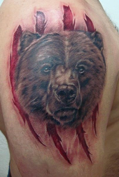 тату медведь, кадьяк, тату реализм, bear tattoo, tattoo ...
