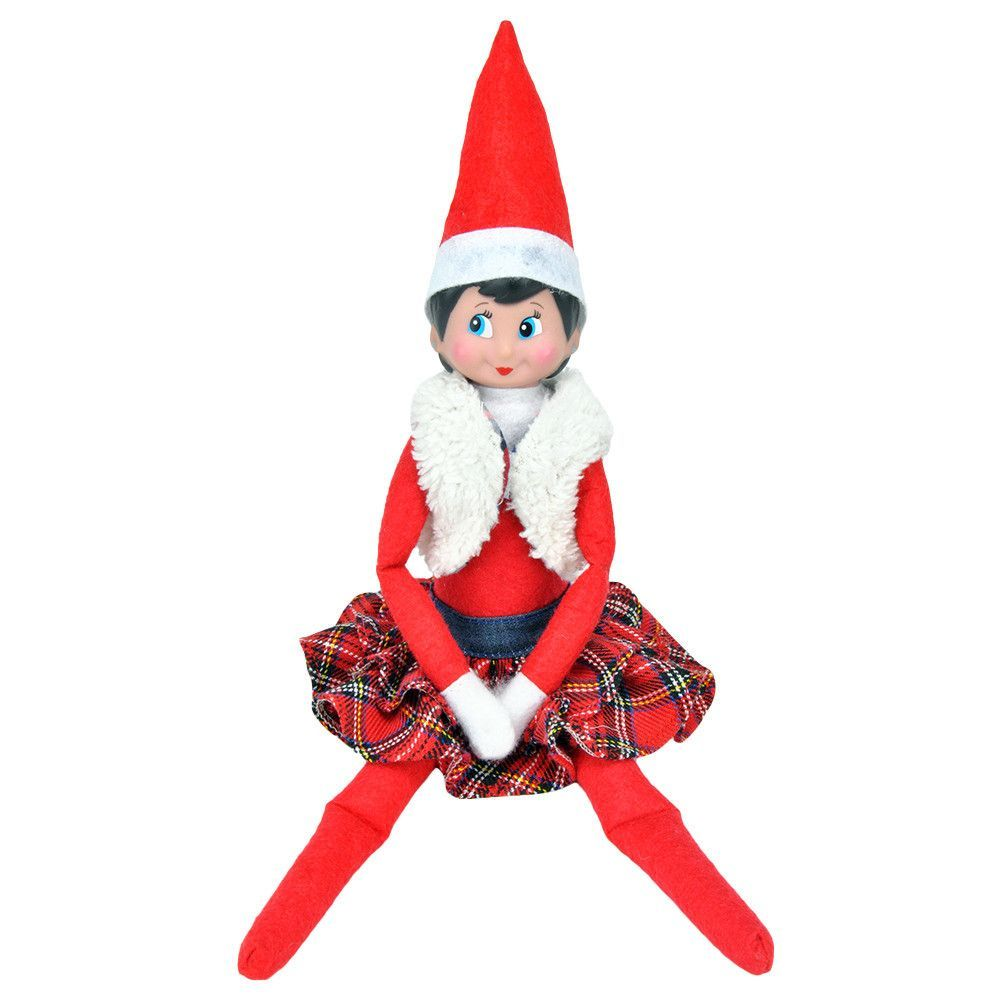 E Ting Claus Couture Clothing For Elf On The Shelf Fluffy Vest