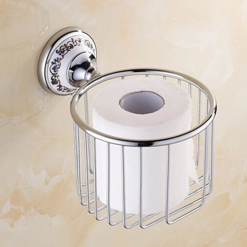 Antique Polished Ceramic Toilet Paper Holder Luxury Silver Paper Box - Cheap bathroom appliances