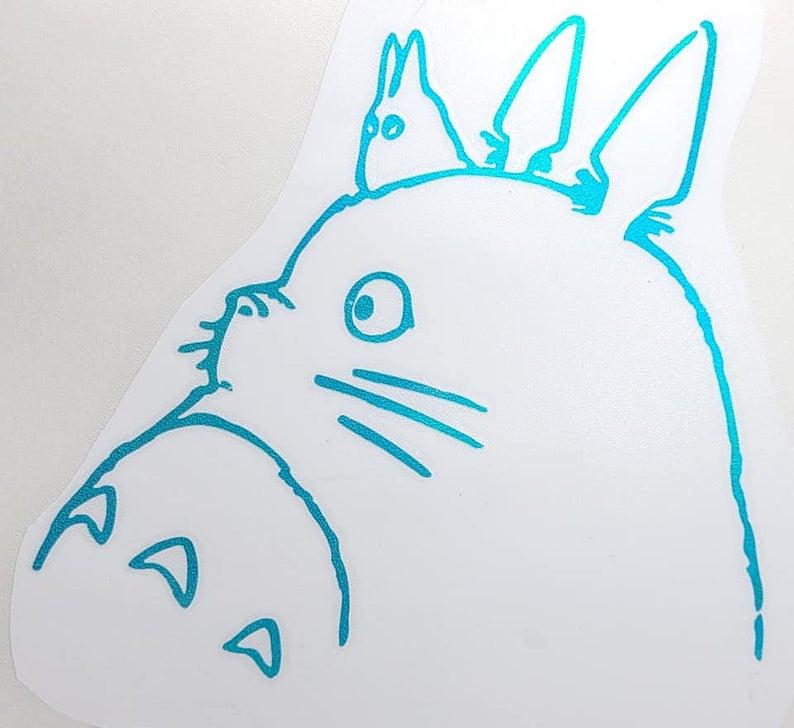 Studio Ghibli Logo Holographic Decal On White Etsy Studio Ghibli Vinyl Decals Ghibli