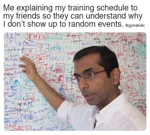 Me explaining my training schedule to my friends - Fitness Studio Humor - #explaining #Fitness #frie...