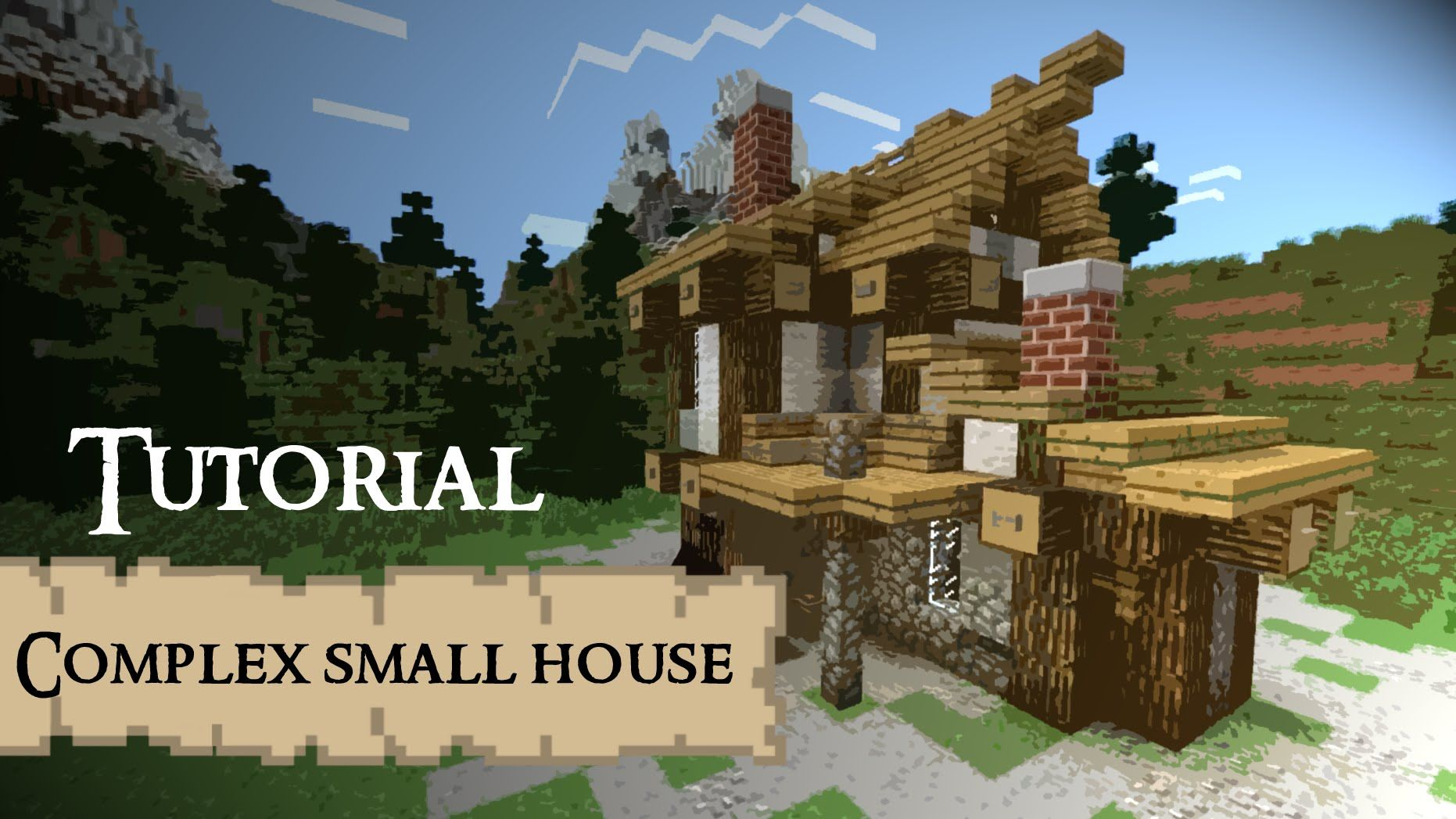 complex small house medieval minecraft tutorial minecraft building pinterest minecraft. Black Bedroom Furniture Sets. Home Design Ideas