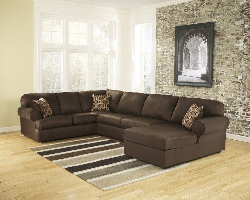 3 Piece Laf Chaise Sectional Dark Brown Sectional Sofa Couch Sectional Sofa Living Room Sofa