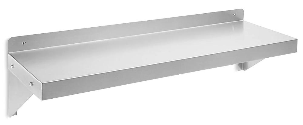 Stainless Steel Wall Shelf Solid Steel Wall Mount Shelving In