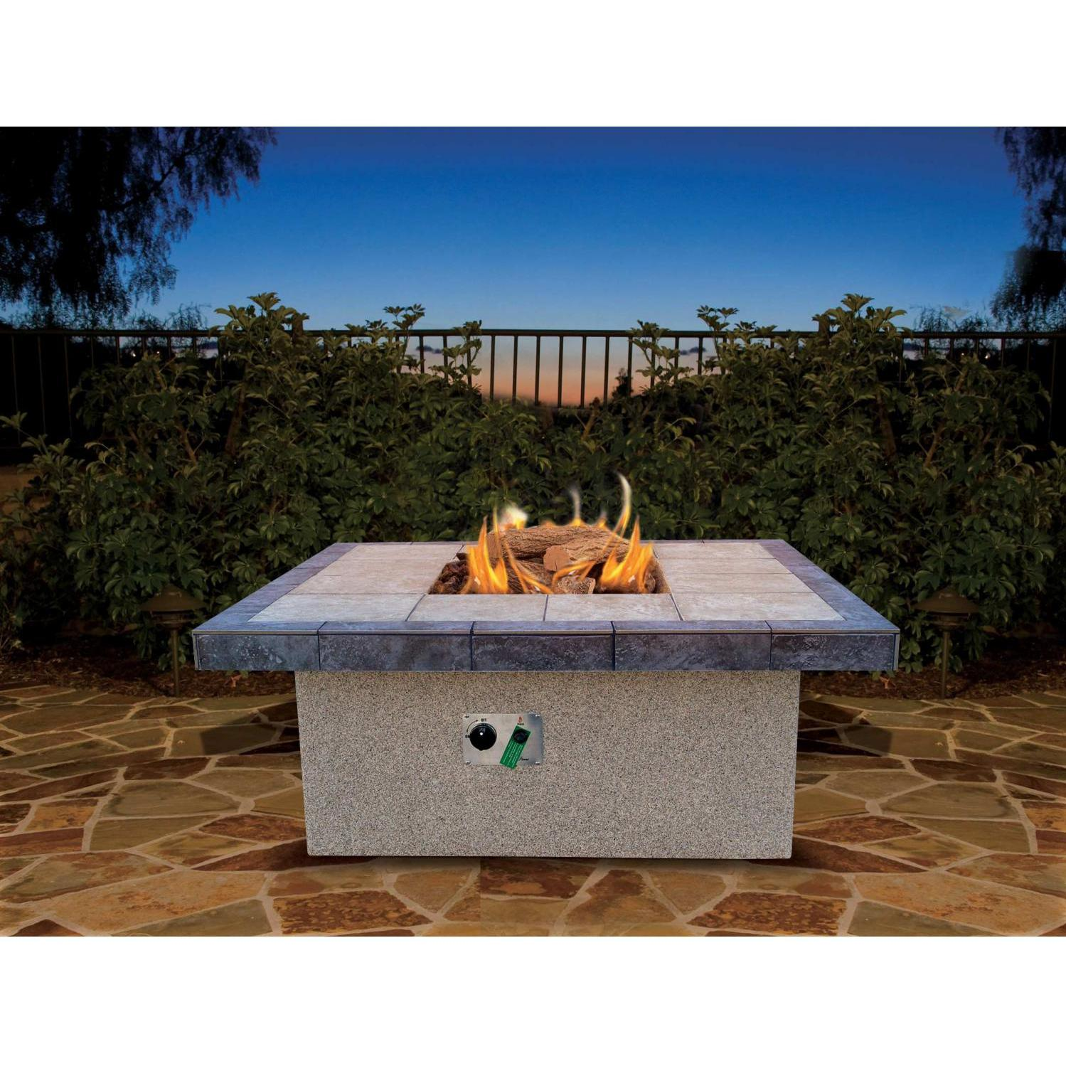 Cal Flame 48 Inch Propane Gas Fire Pit Table Square Coffee