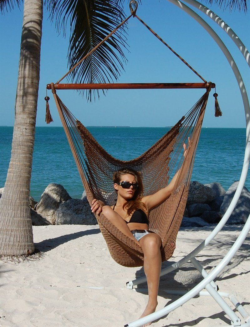 amazon     caribbean jumbo hammock chair by beachside hammocks   mocha   patio amazon     caribbean jumbo hammock chair by beachside hammocks      rh   pinterest