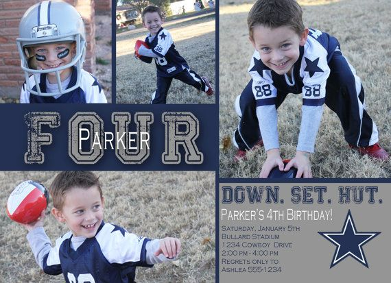 Dallas cowboys football birthday invitation football birthday dallas cowboys football birthday invitation filmwisefo Gallery
