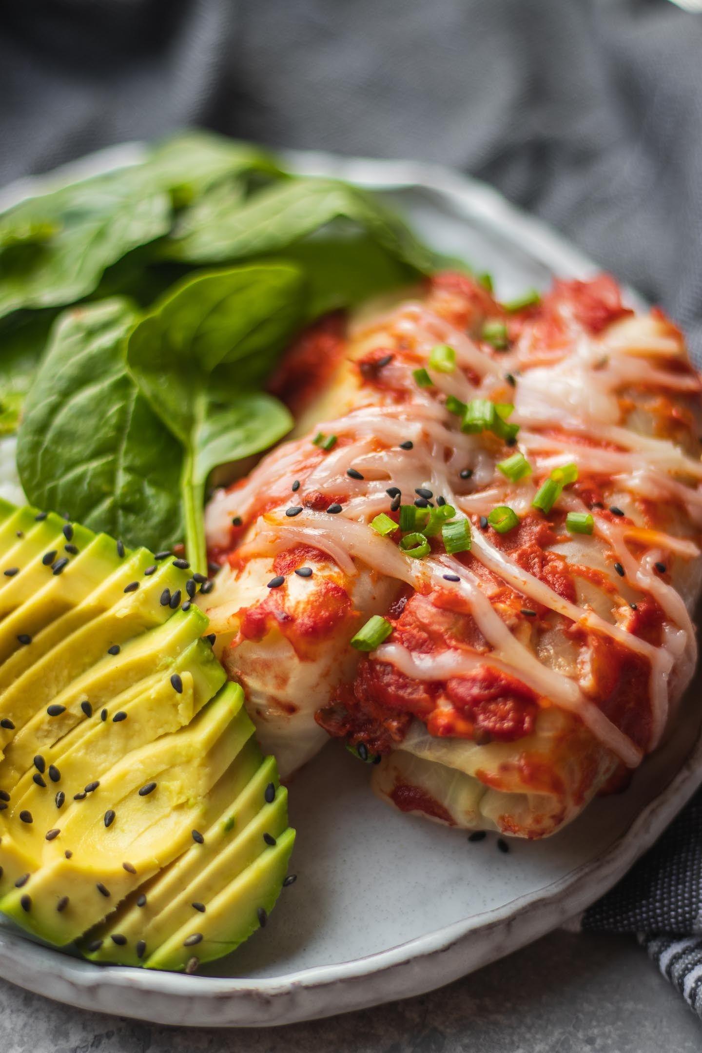 Vegan Stuffed Cabbage Rolls