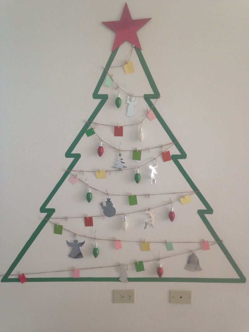 Arbol navidad pared manualidades navide as pinterest - Manualidades navidad arbol ...