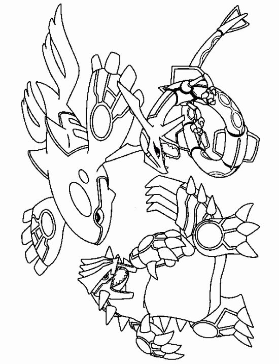 Kyogre Groudon Rayquaza Pokemon Coloring Pages Pokemon Coloring
