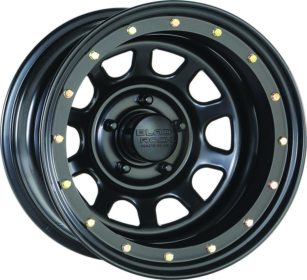 Simulated Bead Lock Look Black Satin Matte Finish Made In U S A Most Popular Sizes Available 15x7 15x8 15x10 15x12 16x Black Steel Wheels Jeep Wheel