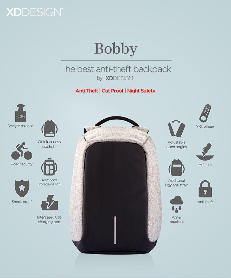 Bobby de beste anti diefstal rugtas