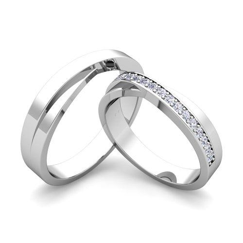 Matching Wedding Bands Infinity Diamond Rings In Platinum Diamond Wedding Rings Sets Matching Wedding Bands Infinity Wedding Band