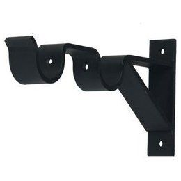 Double Curtain Rod Brackets 3 Inch And 6 Projection For 1 Metal Pole