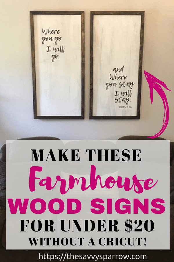 Cheap And Easy Diy Farmhouse Wood Signs A Step By Step Diy Tutorial Farmhouse Wood Sign Diy Wood Signs Wine Bottle Diy Crafts