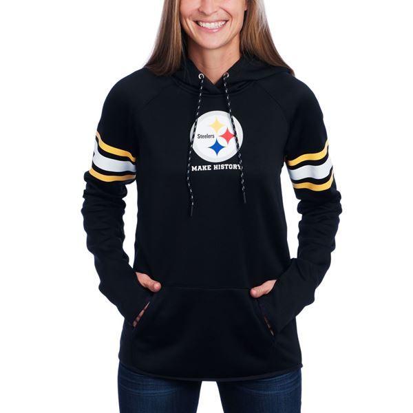 7e0963ebbec Picture of Pittsburgh Steelers Under Armour NFL Combine Women s Black Fleece  Hoodie