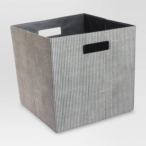 Fabric Cube Storage Bin 13 Threshold Cube Storage Bins Cube Storage Storage Bin