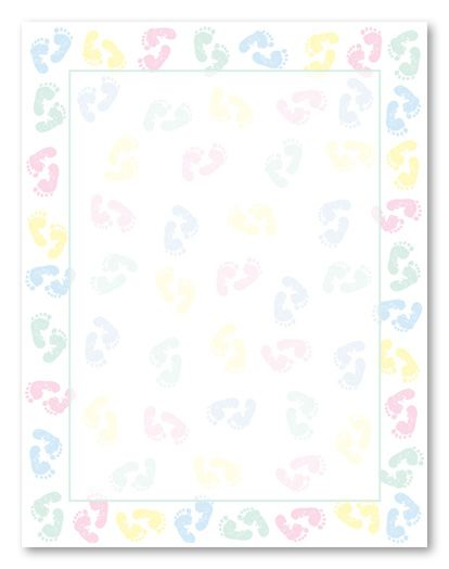 The Best Free Printable Baby Borders For Stationery Children are