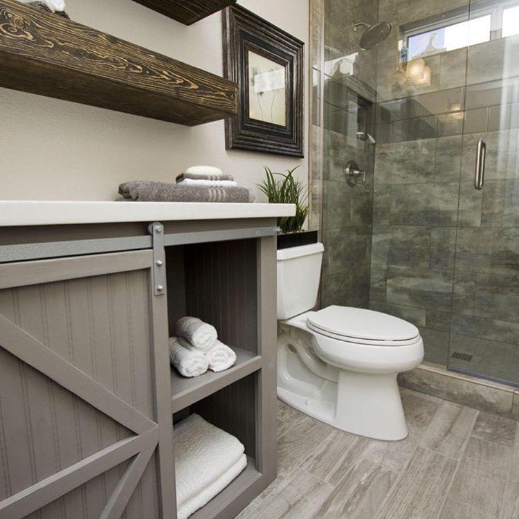 Diy Floating Shelves For Bathroom: Grandy Console With Floating Shelves For The Bathroom