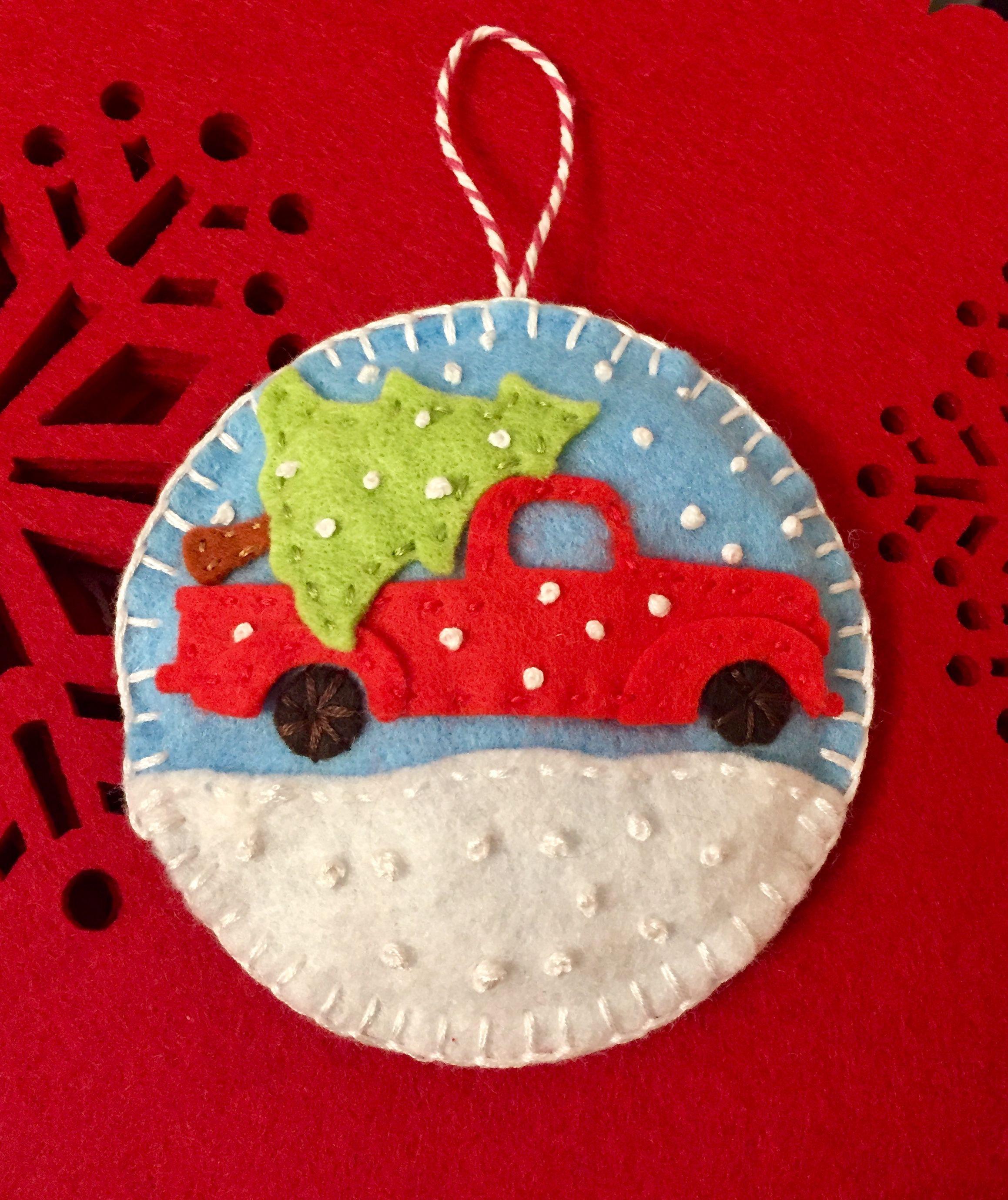 Felt Christmas Ornament Wool Applique Pinterest Felt Sewn Christmas Ornaments Felt Christmas Decorations Felt Christmas Ornaments