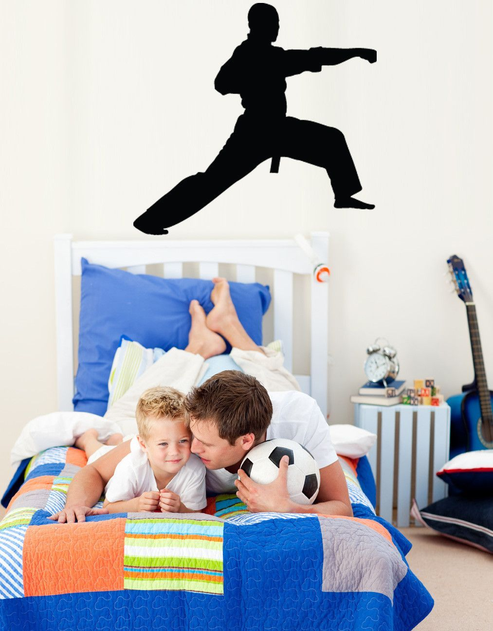 Martial Arts Lunge Silhouette Cutout Wall Decal