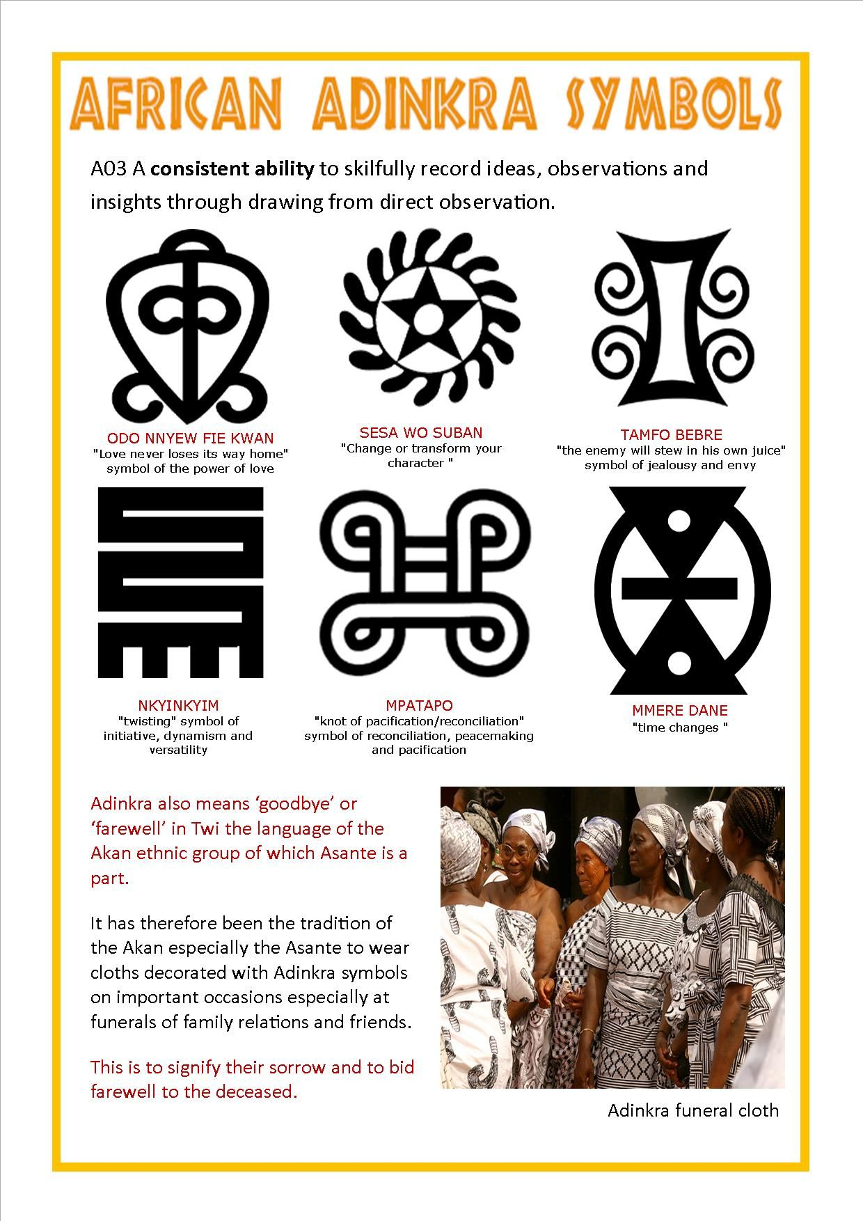 Adinkra symbols and their meanings art ed africa pinterest adinkra symbols and their meanings biocorpaavc