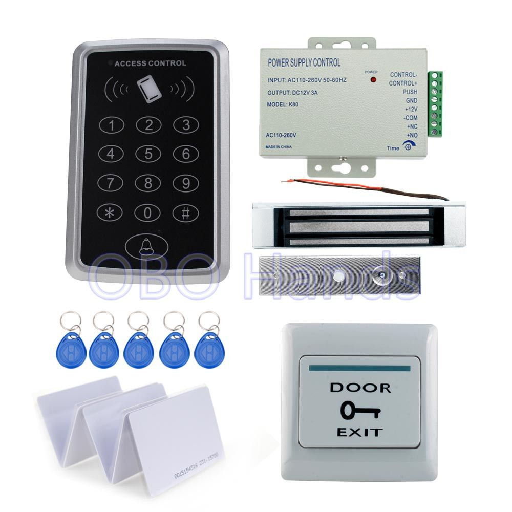 Full complete kit for door access control system T11 card
