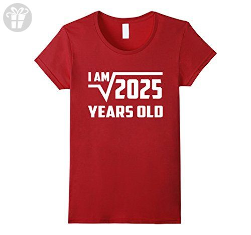 Women's 45 Year Old Square Root 2025 Shirt, 45th Birthday Gift Ideas XL Cranberry - Birthday shirts (*Amazon Partner-Link)