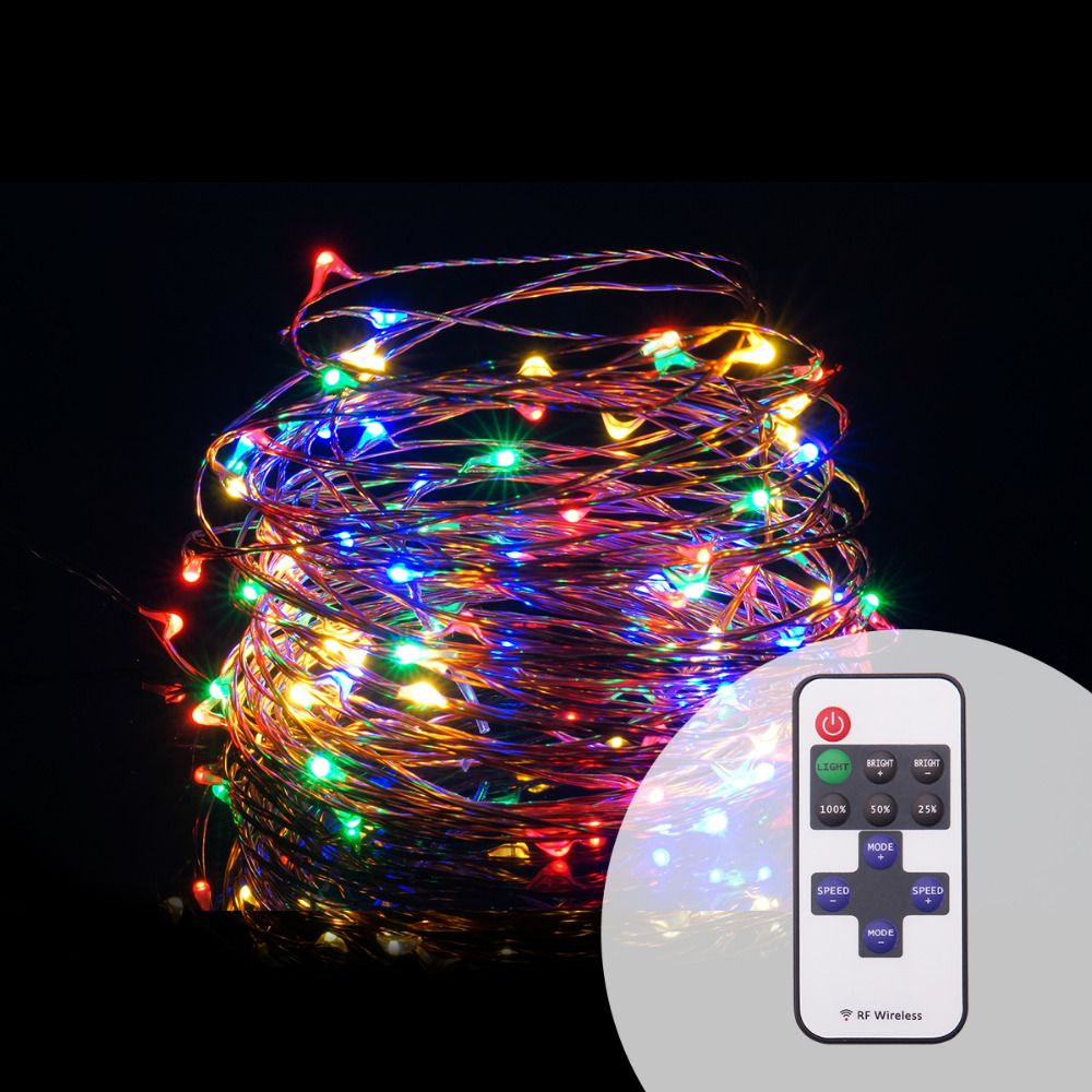 Rf wireless remote 10m 100led dimmable led string christmas holiday rf wireless remote 10m 100led dimmable led string christmas holiday wedding party decoration led copper wire aloadofball Gallery