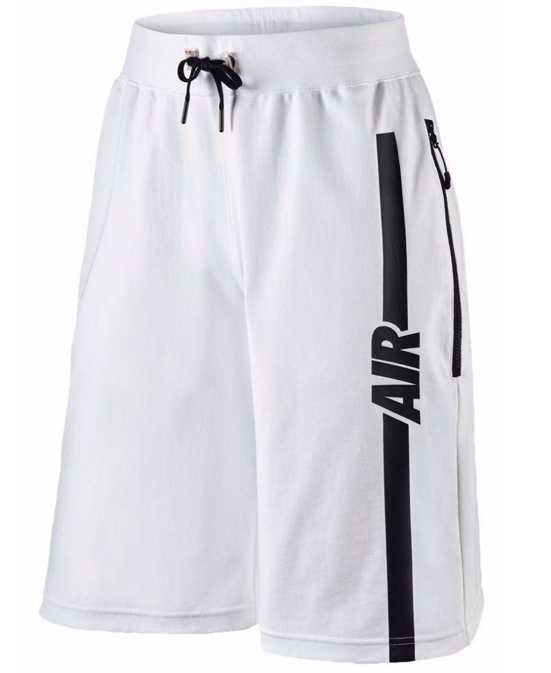$70 Men's Nike Air Pivot V3 Tech Basketball Shorts White/Black 728275 size  ...