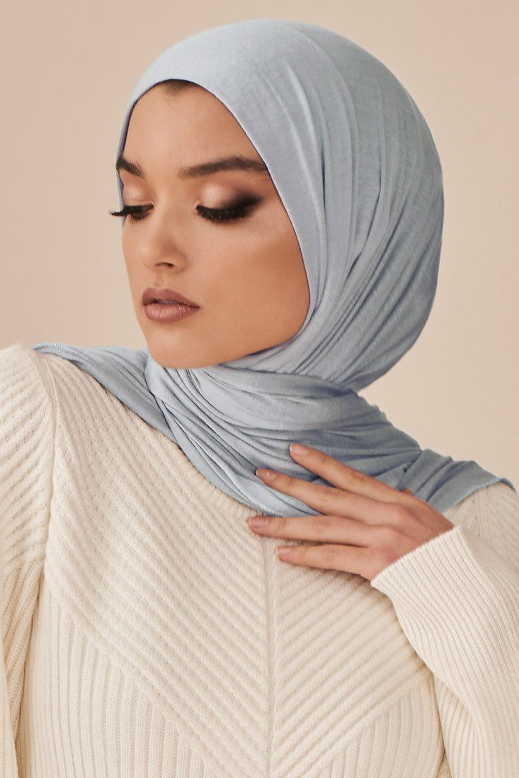 Nude Rose Crimp Crinkle Hijab - Hijab Fashion Shop