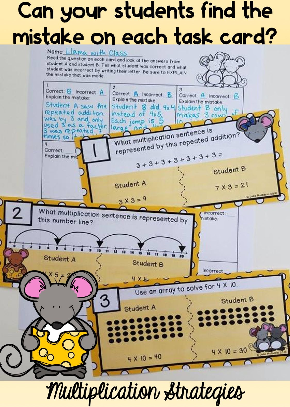 Find The Mistake Multiplication Strategies
