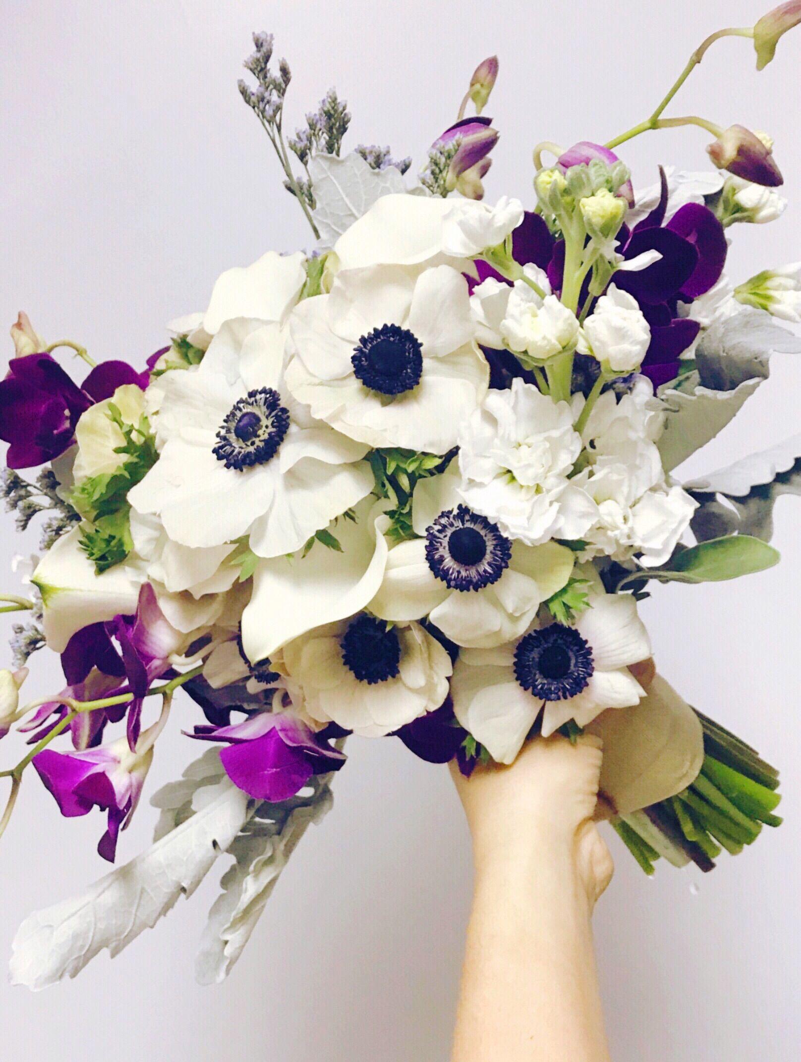 Anemone Bouquet Anemone Bouquet Purple Anemone Bouquet Purple Orchids