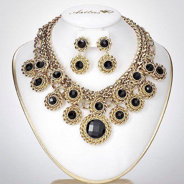 Åsitas - Halsband Set Guld