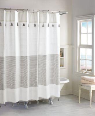 Peri Home Panama Stripe 8 Pc Bath Kit Gray Striped Shower