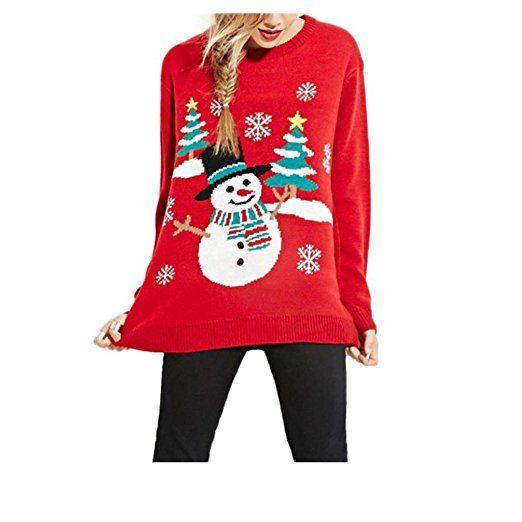 koly_Delle donne maglioni casual Albero di Natale del
